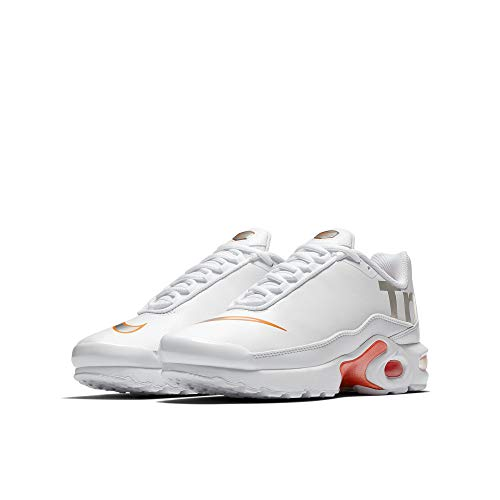 Nike Air Max Plus TN Se BG Running Trainers AR0005 Sneakers Chaussures (UK 6 us 7Y EU 40, White Metallic Silver 100)