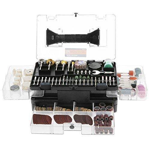 outil rotatif multi-usage Meterk® 349 Pieces kit d'accessoires pour outils rotatifs multi-usage De gravure/De polissage/et De découpage Ensemble de moulin électrique