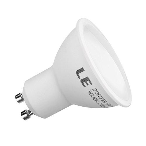 LE Ampoule LED GU10 6W, équivalant à une ampoule halogène 75W, 510lm, Blanc chaud