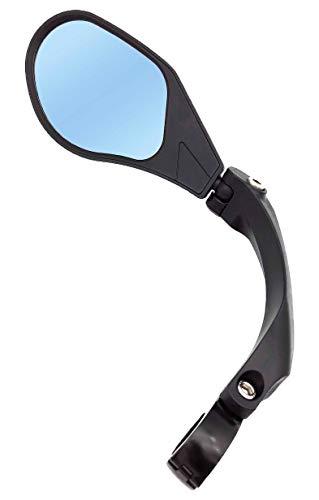 Hafny Miroir de vélo de Guidon, HD, lentille en Verre de qualité Automobile (88 Gauche Bleu)