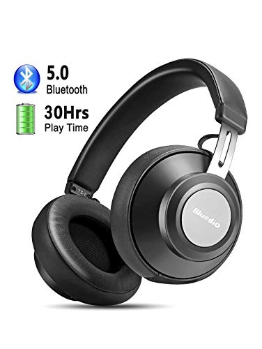 Casque Bluetooth 5.0, YINSAN Casque Bluetooth sans Fil, Casque Audio Oreillette Bluetooth avec 30 Heures de Jeu, Compatible avec Tous Les Appareils iOS et Android, Noir