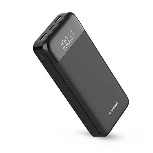 Charmast 20800mAh USB C Batterie Externe 20000mAh Power Bank avec Affichage LED Chargeur Externe USB Smart E 3 Ports de Sortie Batterie Portable pour iPhone Android