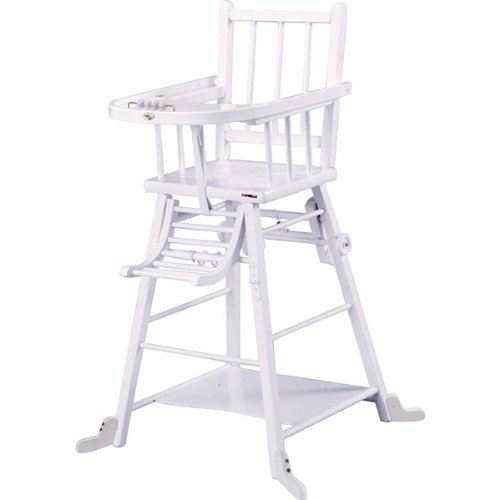 COMBELLE - CHAISE HAUTE TRANSFORMABLE LAQUE BLANC