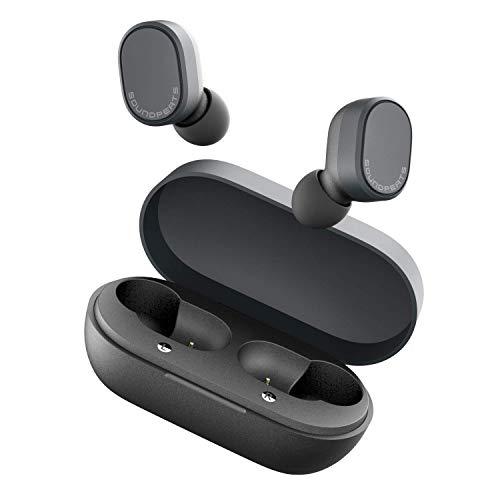 Écouteur Bluetooth V5.0, SoundPEATS Truedot Oreillettes Bluetooth sans Fil TWS, IPX5 16H Intra-Auriculaires Casque Sport Stéréo Mic Anti-Bruit Contrôle Tactile Paire Automatique