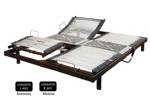Promo Matelas - Sommier Relaxation Électrique S50 - Wengé - 2 X 90 X 200 Cm