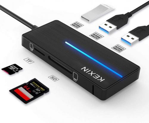 HUB USB 3.0 vers 3 Ports USB 3.0 et Lecteur de Carte SD KEXIN