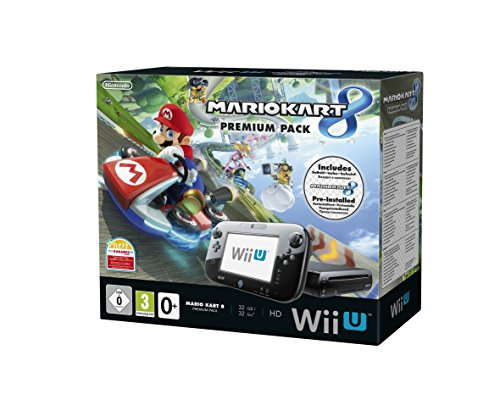 Console Nintendo Wii U 32 Go noire   Mario Kart 8 préinstallé - premium pack