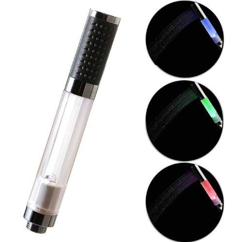 Top Elecs capteur de température LED 3 couleurs changeantes RVB lueur LED Pomme de douche pour la cuisine Salle de bains avec douche buse de diamètre externe 31mm Longueur 225mm LD8008-A13 (T)