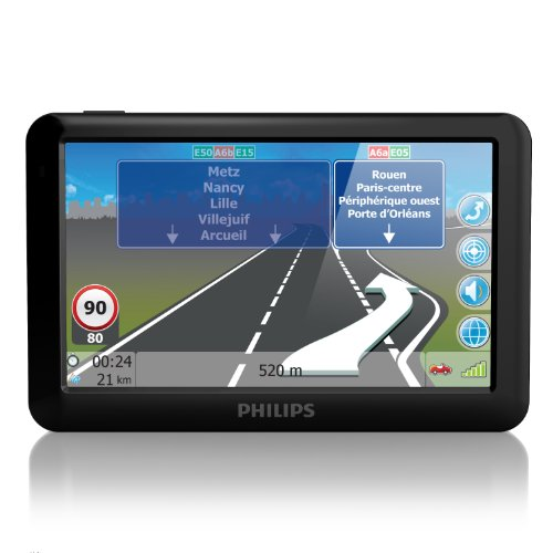 """Philips PNS500EU44LM GPS Europe 44 pays Ecran 5"""" (12,7 cm) USB Noir"""