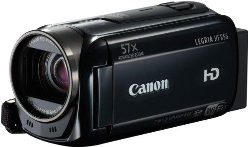 Canon Legria HFR56 Caméscope Ecran 3'' (7,5 cm) HD Port SD/SDHC 3,2 Mpix Zoom optique 32x Wi-Fi Mémoire Flash intégré 8 Go Noir
