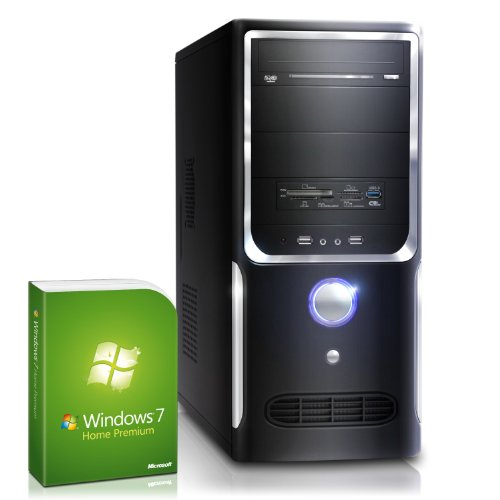 CSL Unité Centrale Speed F10002H (Core i7) comp. Windows 7 - Core i7-4770 4x 3400 MHz, RAM 16Go, HDD 2000Go, GeForce GT 610 2Go, USB 3.0, PC de gamer et aussi PC de bureau