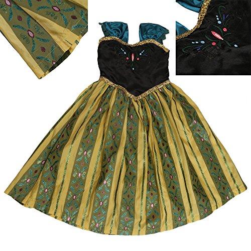 Déguisement Fille Costume Robe Anna La Reine des Neiges - Y01009-XXL