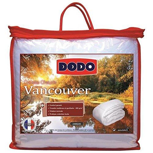 dodo couette chaude 400g vancouver 220x240cm prix 32 99. Black Bedroom Furniture Sets. Home Design Ideas