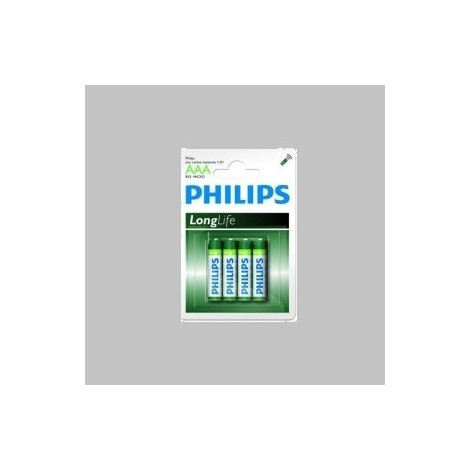 lot de 4 piles Philips Long Life