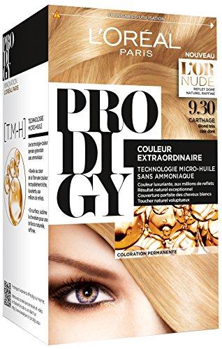 Excellence L'Oréal Paris Prodigy Coloration Blond Très Clair Doré sans Ammoniaque Micro-huile 9,3 Carthage