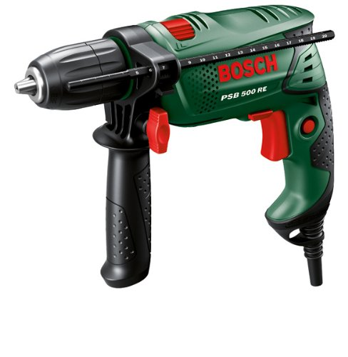 "Bosch Perceuse à percussion ""Easy"" PSB 500 RE à régulation électronique avec coffret 0603127000"