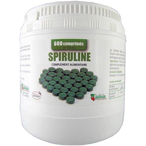 Spiruline culture bio Ecocert 600 comprimés 500 mg