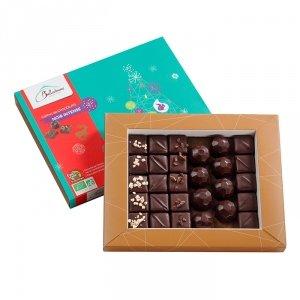 BELLEDONNE - Coffret de Chocolats Noir Intense bio & équitable 250 g - 28 chocolats