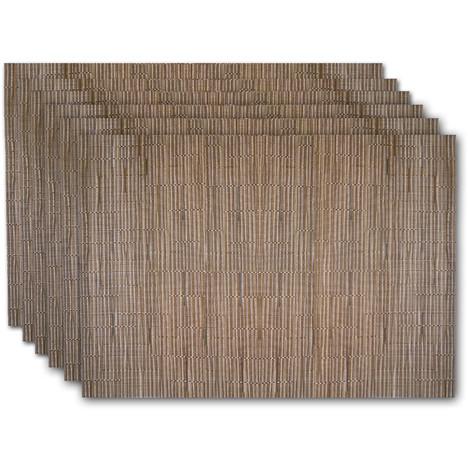 lot de 6 sets de table croisade naturel prix 11 40. Black Bedroom Furniture Sets. Home Design Ideas