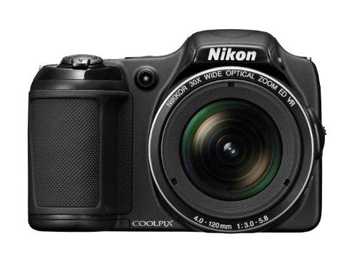 """Nikon Coolpix L820 Appareil photo numérique compact 16,8 Mpix Ecran 3"""" Zoom optique 30x Noir"""