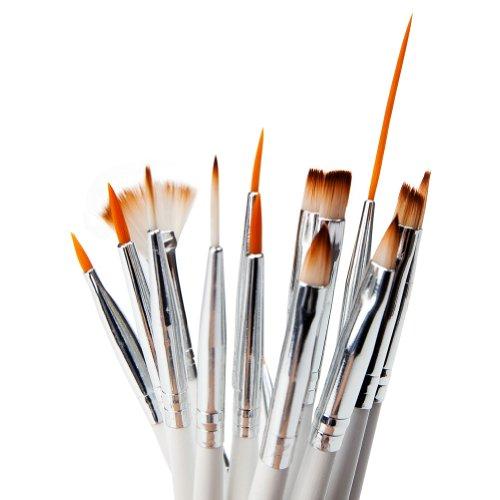 Set Professionnel de 16 Pinceaux & Brosses Nail Art dans son Etui Banc Pro pour Artistes Nail Art par Cheeky®